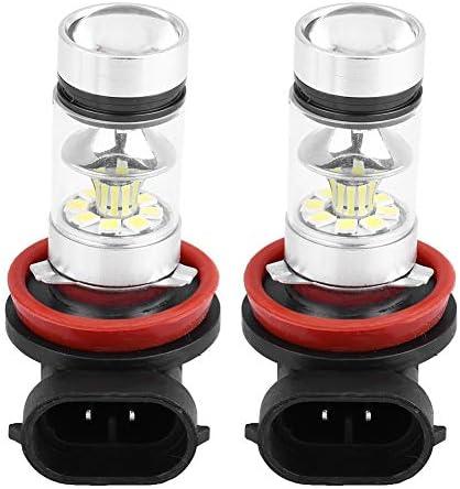 Qii lu LED フォグランプ電球、2個 車100W 超高輝度変換 LEDヘッドライト フォグランプ電球(白色光)