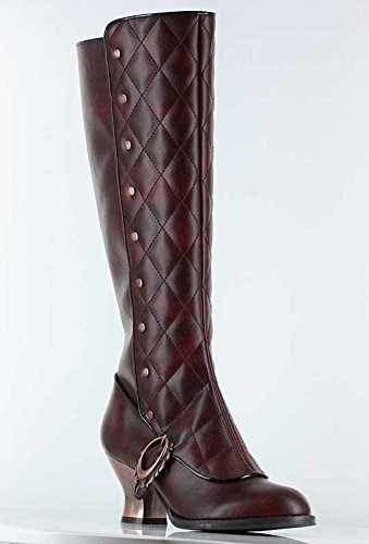 vintage Black Thundra H boots Burgundy retro 5 6 2 Victoriana Shoes PU Hades inch 7wAq87Y
