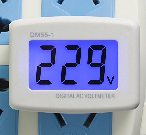 UCTRONICS Flat US Plug AC 80-300V LCD Digital Voltmeter 220V Panel Voltage Tester Meter for Directly to Measure the voltage of the Family Factory Wall Socket ()