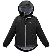 Wantdo Girls Hooded Spring Jacket Windproof Fleece Ski Jacket
