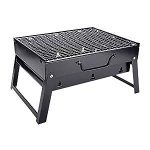 AWOME - Barbecue portatile a carbone pieghevole a carbonella 7 spesavip