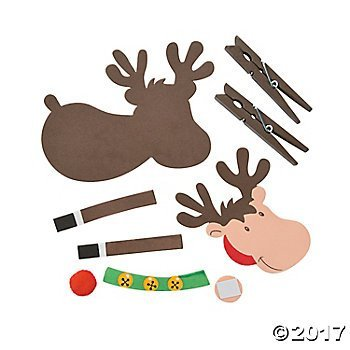 12 kits Christmas Craft KITS fun express Christmas Foam Reindeer Clothespin Craft Kits