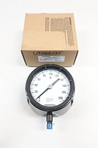 Ashcroft 45-1279-AS-02L-200# DURAGAUGE Pressure Gauge 0-200PSI 1/4IN D609733