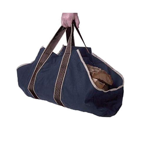 Comily Plus+ Big Capacity Heavy Duty Canvas Firewood Log Tote Carriers Holders Bag