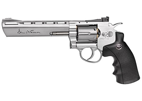 ASG Dan Wesson CO2 Powered Pellet Air-Revolver, Silver, 6