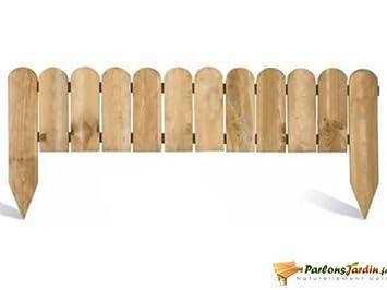 Bordure de jardin en bois à planter Stackette: Amazon.fr: Cuisine ...