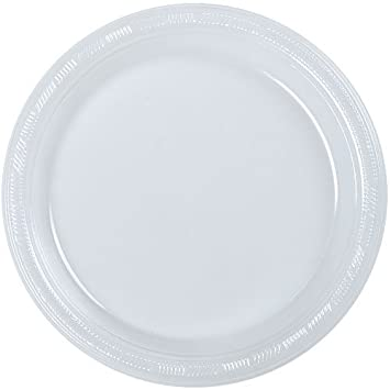 Amazon.com Hanna K. Signature Collection 50 Count Plastic Plate 10-Inch Clear Kitchen \u0026 Dining  sc 1 st  Amazon.com & Amazon.com: Hanna K. Signature Collection 50 Count Plastic Plate 10 ...
