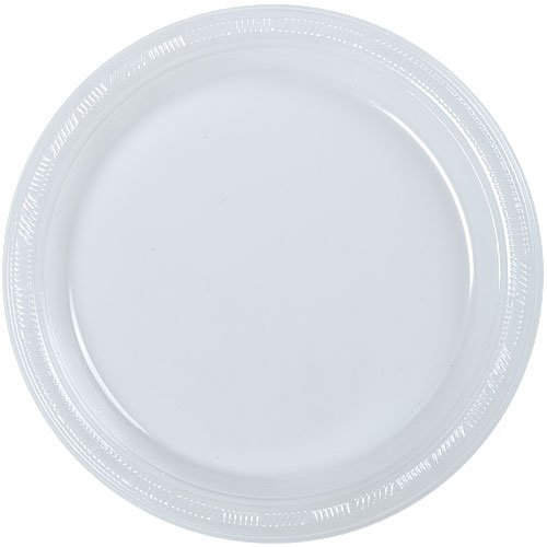 (Hanna K. Signature Collection 50 Count Plastic Plate, 10-Inch, Clear)
