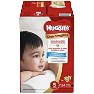 Huggies Little Snugglers Baby Diapers, Size 5, 124 Count, ECONOMY PLUS (Packaging May Vary)
