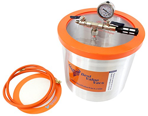 3 Gallon Aluminum Vacuum Chamber to Degass Urethanes, Silicones and Epoxies (Pro Vac Vacuum Chamber compare prices)