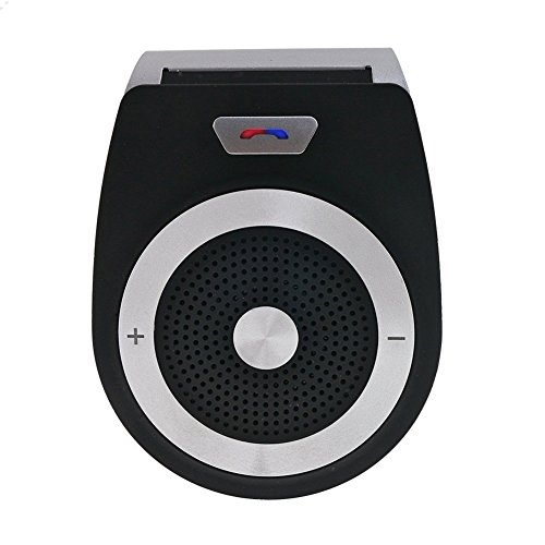 Car Speakerphone QOFOWIN Bluetooth 4.1 Portable Hands-Free Sun Visor Car Kit Multipoint Wireless Connection A2DP Streaming Car Kit For iPhone, iPad, Samsung, HTC, LG, Android Phones&Tablet