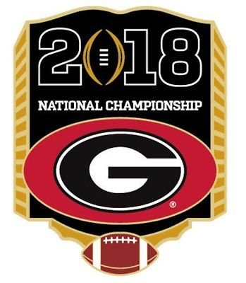 - 2018 National Championship Pin - Georgia Bulldogs