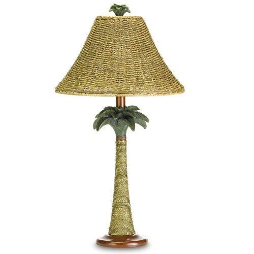 Koehler 37989 25.5 Inch Palm Tree Rattan Table (Tropical Rattan)