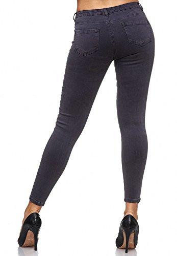 con floreale motivi Treggings D2083 ricamo da ArizonaShopping floreali Jeans Jeans donna Grigio xw61nIYq