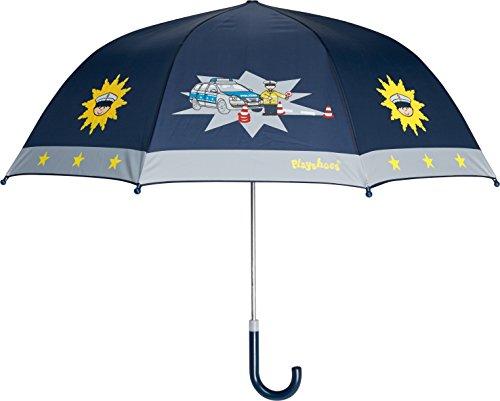Playshoes Jungen Regenschirm Kinder Polizei, Einfarbig, Gr. One size, Blau (original 900)