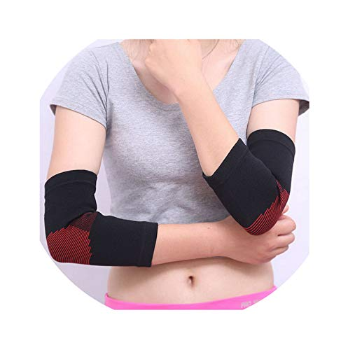 I Need-You 1Pair Nylon Sport Elbow Brace Support Arm Sleeve for Basketball Tennis Volleyball Fitness Gym Protector Elbow Pad codera,Black ()