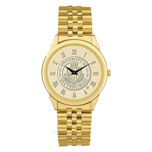 AdSpec NCAA Pittsburgh Panthers Men's Wristwatch, One Size, Gold (Sports Watch Panthers)
