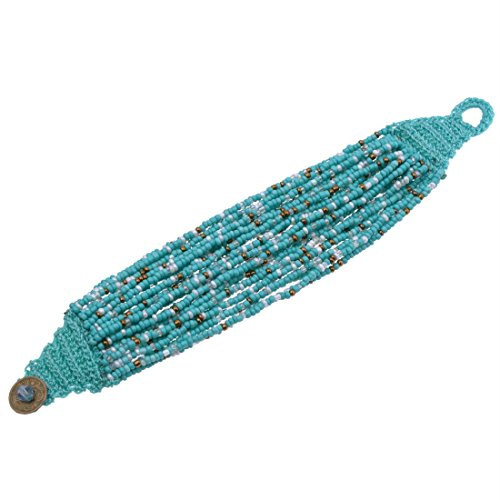 Fashion Handmade Multilayer Turquoise Resin Seed Beads Bracelets Bangle A6