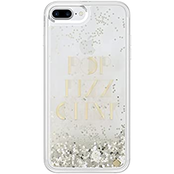 kate spade new york Liquid Glitter Clear Case for iPhone 7 Plus - Gold / Pop Fizz Clink