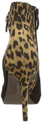 Leopard Black botas 25343 988 sintético de material mujer multicolor Mehrfarbig Tamaris xqawz85dn8