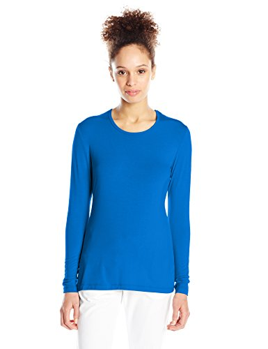 (Cherokee Women's Long Sleeve Knit Shirt, Royal, Medium)