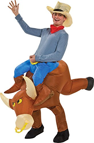 [Adult-Costume Bull Rider Inflatable Halloween Costume - most adults] (Inflatable Bull Rider Halloween Costume)