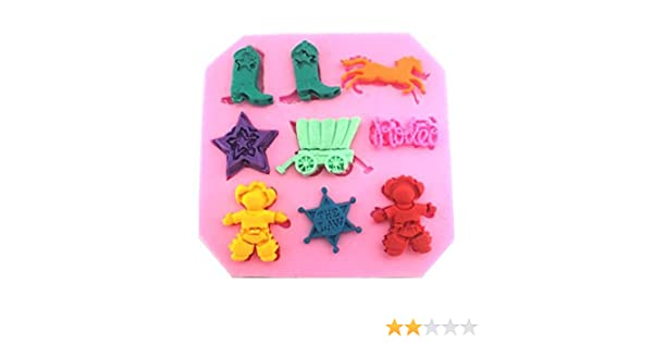 Ornaments 11 Cavity Silicone Mold for Fondant Gum Paste Chocolate Crafts