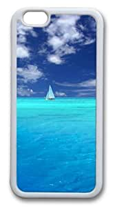Blue Paradise Custom Case For Iphone 4/4S Cover PC White