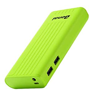 [Upgraded] Bonai Power Bank Stripe 10,000mAh Portable Charger External Battery with Flashlight for Apple iPhone 7 6 Plus 5s iPad mini Samsung Galaxy Smartphones Tablet ZTE (Greenery)