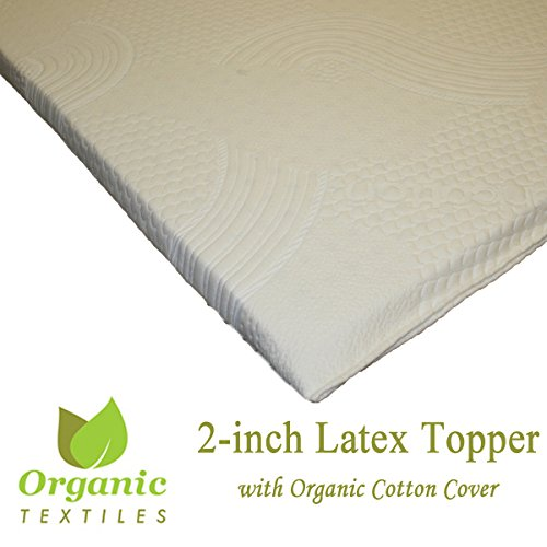Certified ORGANIC Latex Topper 2-inch thickness, Covered Soft Organic Cotton. Special offer. Queen size by OrganicTextiles
