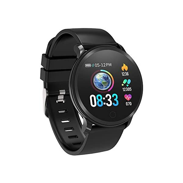 BingoFit Fitness Tracker, Smart Watch IP68 Waterproof Activity Tracker with Heart Rate Monitor, Sleep Monitors, Calorie, Pedometer, Blood Pressure Sport Smartwatch for Men Women Kids Gifts