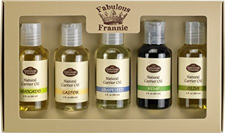 Carrier Oil 5 Pack #2 - All Natural ingredients and 100% Pure Essential oils - Includes Avocado, Castor, Grapeseed, Hemp and Olive Carrier (Carrier Olive)