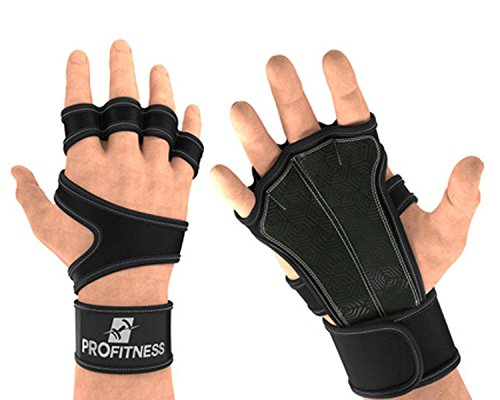Cross Training Gloves With Wrist Support (Black, Medium)