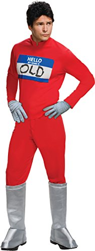 Rubie's Men's 2 Derek Zoolander's Hello My Name Is Costume, Multi, Standard (Ben Stiller Costume)