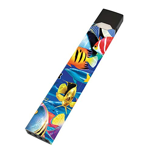 MightySkins Skin Compatible with Juul - Tropical Fish | Protective, Durable, and Unique Vinyl Decal wrap Cover | Easy to Apply, Remove, and Change Styles | Made in The USA