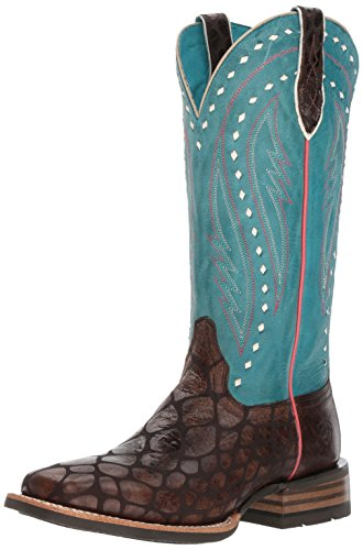 Ariat Women's Callahan Work Boot, Chocolate Anaconda Print, 8.5 B US by Ariat