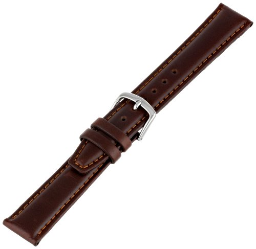 Hadley-Roma Men's MSM881RB-180 18 mm Brown Oil-Tan Leather Watch Strap by Hadley Roma (Image #2)