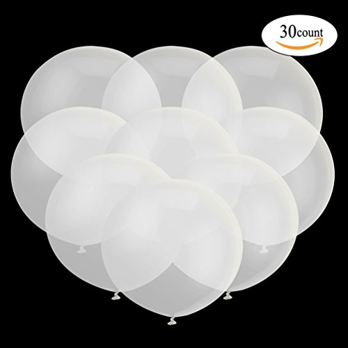 18 Inch Big Balloon Latex Giant Balloon Jumbo Thick Balloons for Photo Shoot/Birthday/Wedding Party/Festival/Event/Carnival Decorations 30ct/pack Clear