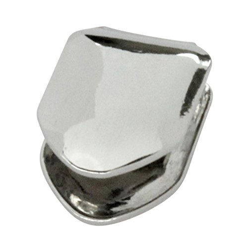 Silver Tone Small Single Tooth Cap Grillz Hip Hop Teeth Grill w/Mold (Removable Teeth Grills Lower)