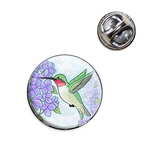 Hummingbird with Hydrangeas Lapel Hat Tie Pin Tack (Hydrangea Hat)