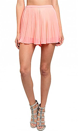 The Clothing Company Women's Pleated Flounce Pink Short high-quality