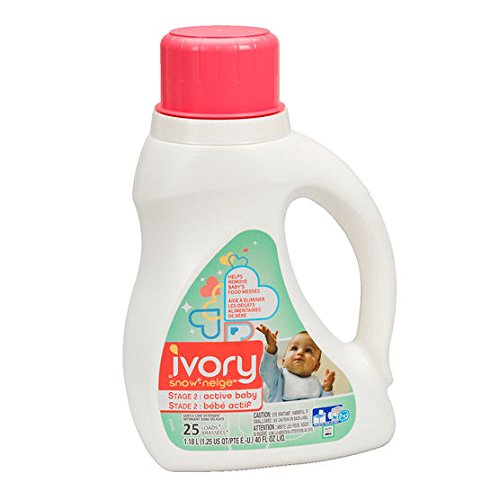 2 Pk. Ivory Snow Stage 2: Active Baby Liquid Laundry Detergent (HE), 40 oz, 25 loads