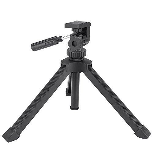 Ecurfu Aluminum Table Top Tripod, Adjustable Heavy Duty Tripods for Spotting Scopes Binoculars Telescope Monoculars DSLR Cameras and Other - Tripod Telescope Tabletop