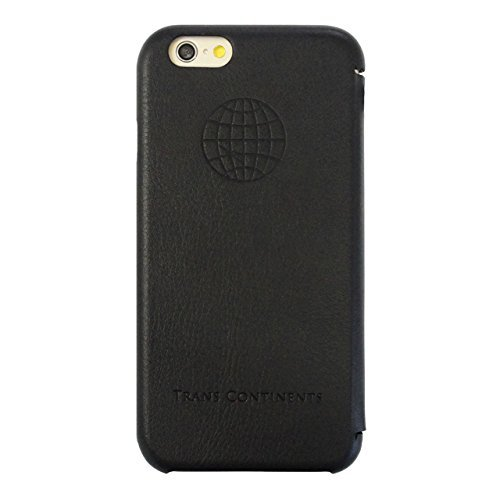 【iPhone6s/6 Case】 TRANS CONTINENTS Leather CASE for iPhone6s/6 (Black)