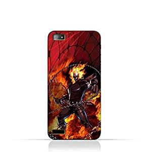 BlackBerry Z3 TPU Silicone Case with Ghost Rider Design