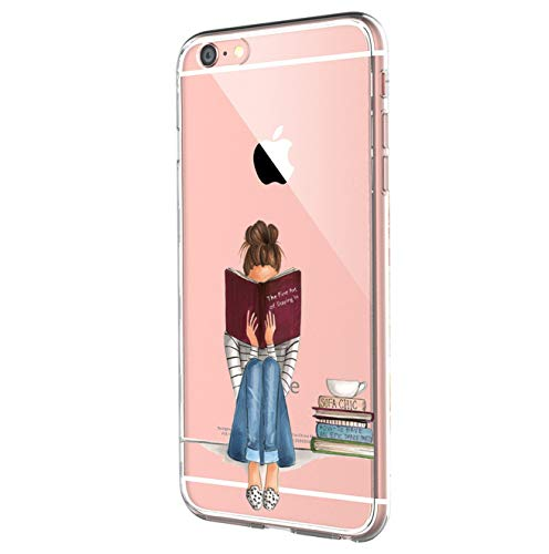 Qissy Case Compatible with iPhone6s Case, iPhone 6 Case Soft TPU Art Pattern Case for iPhone 6/6S (Beautiful Supermodel Fashion Girl) (8)