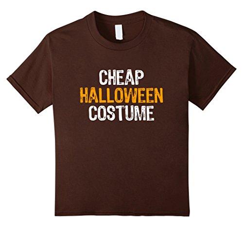 Kids Cheap Halloween Costume T-shirt 6 Brown