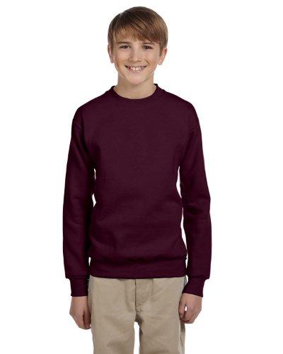 Hanes Comfortblend Pullover Fleece (Hanes Youth 7.8 oz. ComfortBlend EcoSmart 50/50 Fleece Crew, Large, MAROON)
