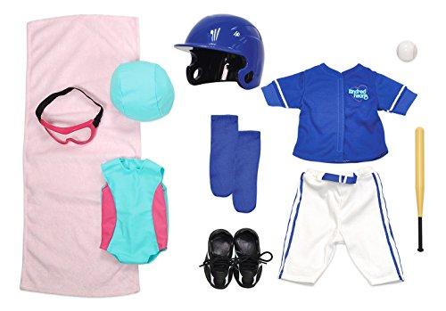 [해외]Kindred Hearts Dolls 18 Baseball + Swimming Set (Amazon Exclusive) / Kindred Hearts Dolls 18 Baseball + Swimming Set (Amazon Exclusive)