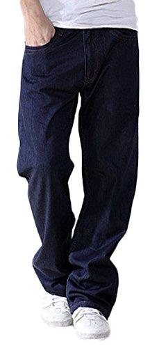 Soojun Mens Fashion Loose Casual Denim Comfortable Jeans Pants Fit Work